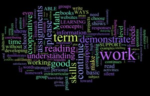 my last term\'s report cards, wordle-fied